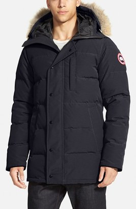 Men's Canada Goose 'Carson' Slim Fit Hooded Packable Parka With Genuine Coyote Fur Trim $900 thestylecure.com