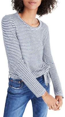 Madewell Soundcheck Stripe Side Tie Tee