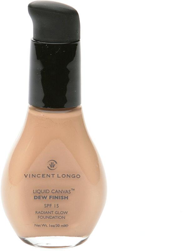 Vincent Longo Liquid Canvas Dew Finish Radiant Glow Foundation with Pump, Porcelain 1 oz (30 ml)