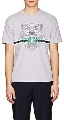 Kenzo Men's Logo-Print Cotton T-Shirt - Gray