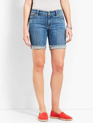 "Talbots 7"" Denim Short-Stratton Wash"