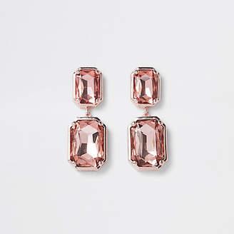 River Island Rose gold tone jewel clip on earrings