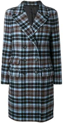 Ermanno Scervino checked double-breasted coat