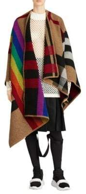 Burberry Rainbow Stripe Horse Blanket Cape