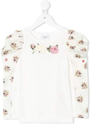 MonnaLisa floral sleeve top
