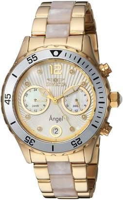 Invicta Women's 'Angel' Quartz Stainless Steel Casual Watch, Color Two Tone (Model: 24702)