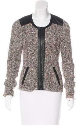 Rag & Bone Leather-Trimmed Bouclé Jacket