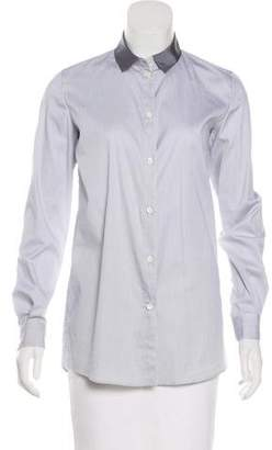 Lanvin Striped Button-Up Top