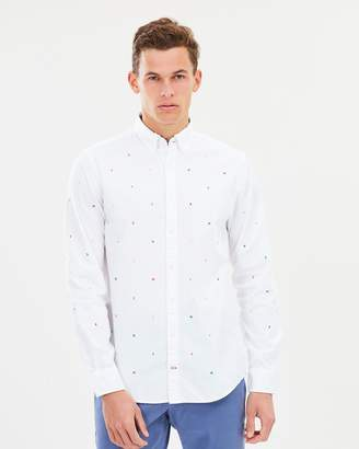 Tommy Hilfiger All-Over Letter Embroidered Shirt