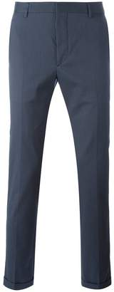 Prada folded hem skinny trousers