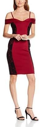 Jane Norman Women's Bardot Lace Illusion Dress