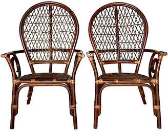Rattan High-Back Chairs