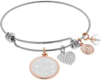 "Love This Life ""Faith Hope Love"" Bangle Bracelet"