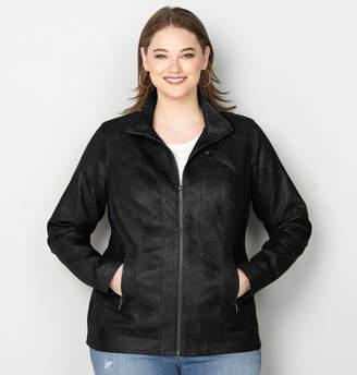Avenue Perforated Pleather Jacket