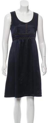 Proenza Schouler Silk Colorblock Dress