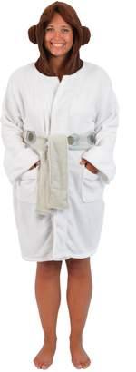 Star Wars Princess Leia Womens Fleece Bathrobe & Swim Suit Cover Up OSFM