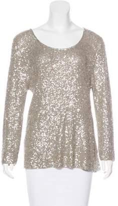 Donna Karan Cashmere & Silk Sequin Sweater
