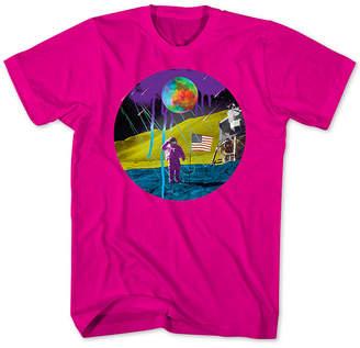 New World Neon Moon Landing Men Graphic T-Shirt