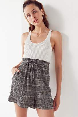 Urban Outfitters Phoebe Paperbag Plaid Short