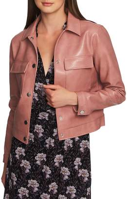 1 STATE 1.STATE Patch Pocket Faux Leather Jacket