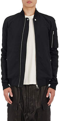 Rick Owens Men's Cotton-Blend Raglan Bomber Jacket - Black