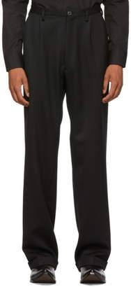 Maison Margiela Black Twill Cavalry Trousers