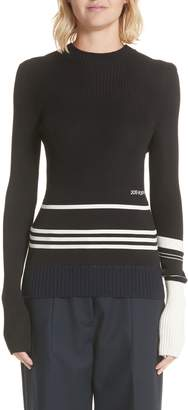 Calvin Klein Varsity Stripe Colorblock Sweater