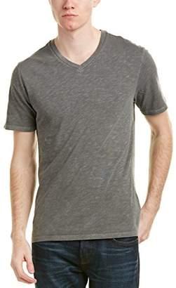 Life After Denim Men's Short Sleeve Slim Fit Cotton Slub V-Neck T-Shirt