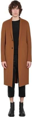 Rick Owens Single Breasted Double Virgin Wool Coat