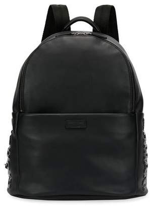 Giorgio Armani Leather Backpack, Black
