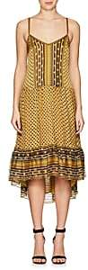Ulla Johnson WOMEN'S TALIN SILK TIERED MIDI-DRESS - GOLD SIZE 8