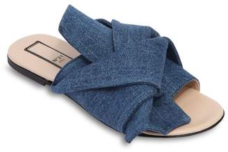 N°21 Denim Slide Sandals