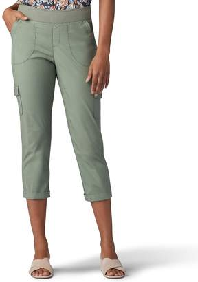 Lee Women's Flex-To-Go Pull-On Cargo Rolled Capris