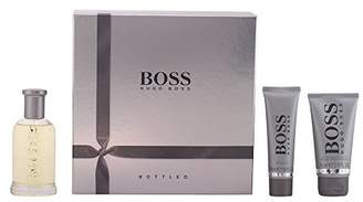 HUGO BOSS BOTTLED Gift Set for Men 100ml (3.3 Fl.Oz) EDT Spray, 75ml (2.5 Fl.Oz) After Shave Balm, 50ml (1.6 Fl.Oz) Shower Gel