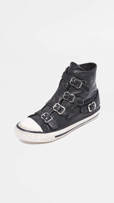 Ash Virgin Buckled High Top Sneakers