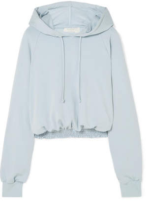 Chloé calé Cropped Shirred Jersey Hoodie - Blue