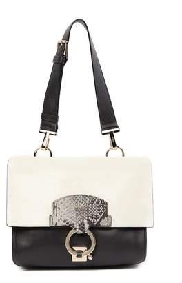 Furla Scoop Reversible Snake-Embossed Leather Shoulder Bag