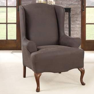 Sure Fit Ultimate Stretch T-Cushion Wingback Slipcover