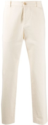 Gucci rear embroidered straight-leg trousers