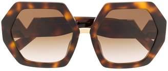 Valentino Eyewear oversized frame sunglasses