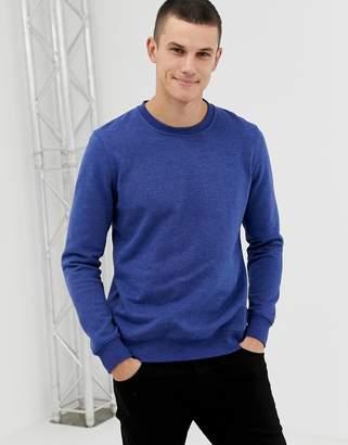 Burton Menswear sweatshirt in blue marl