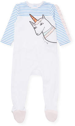 Little Marc Jacobs Unicorn Print Footie