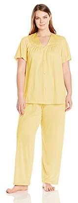 Vanity Fair Women's Plus Size Coloratura Sleepwear Short Sleeve Pajama Set 90807 $22.40 thestylecure.com