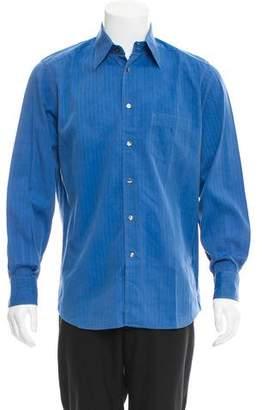 Dolce & Gabbana Herringbone Print Button-Up Shirt