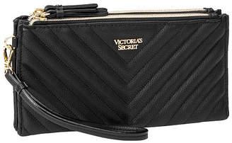 Victoria's Secret Victorias Secret V-Quilt Double Zip City Wristlet