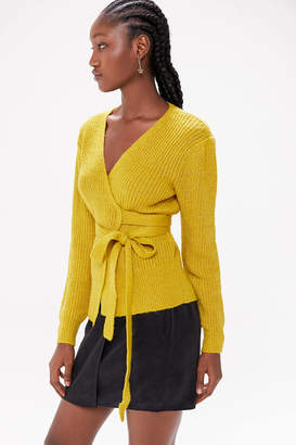Urban Outfitters Tuscany Ribbed Wrap Cardigan