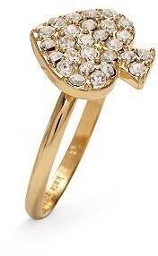Signature spade crystal ring