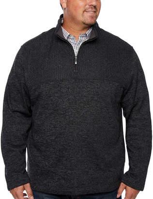 Van Heusen Collar Neck Long Sleeve Pullover Sweater - Big and Tall