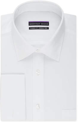 Geoffrey Beene Men's Classic-Fit Wrinkle Free Bedford Cord Solid French Cuff Dress Shirt $55 thestylecure.com