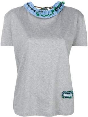 Prada knitted collar T-shirt